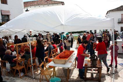 Linares de la sierra fête la charcuterie