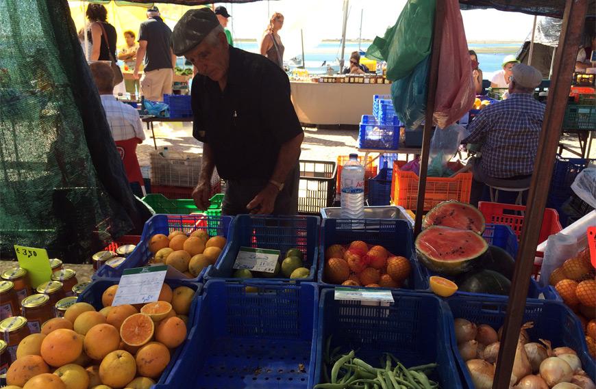 El mercado de Olhão en Algarve, Portugal