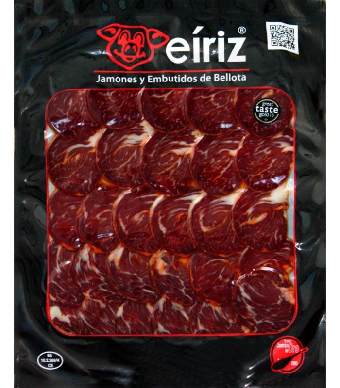Sliced acorn-fed iberian lomito cured meat presa - Eíriz