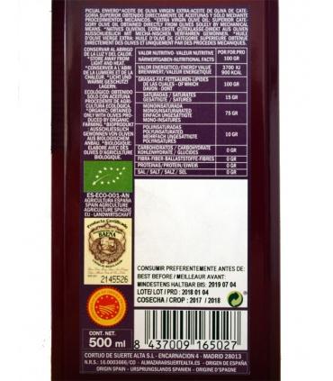 Etiquette Huile d'olive Vierge Extra Bio Picual - Cortijo de Suerte Alta