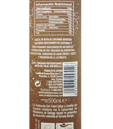 Label for AOVE Biodynamic Picual  - Castillo de Canena