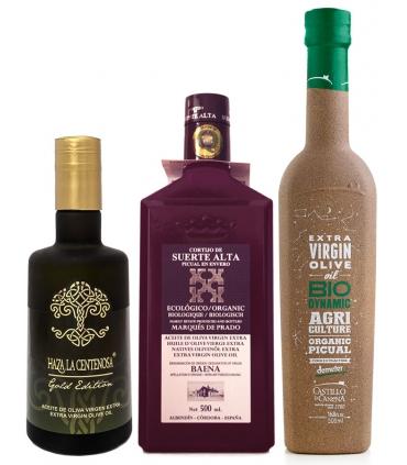 Sélection d'huiles d'olive variété picual