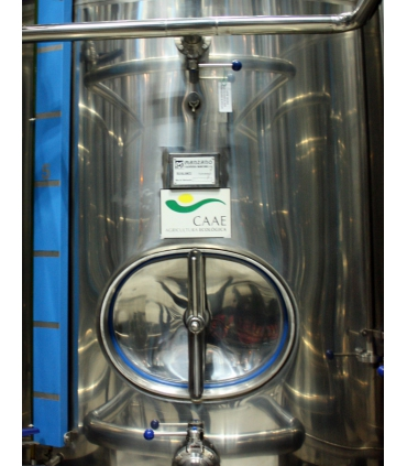 Certified CAAE olive oil stainless steel vat - Cortijo Suerte Alta