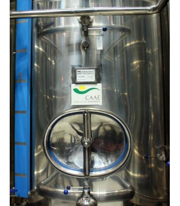 Deposito Inoxidable con aceite de oliva certificado CAAE - Cortijo Suerte Alta