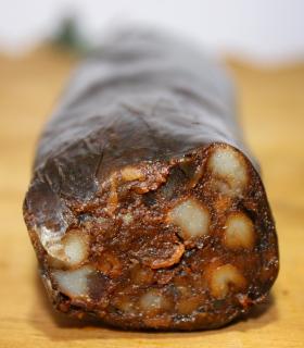 Ibérico de bellota morcilla with squash - La Finojosa