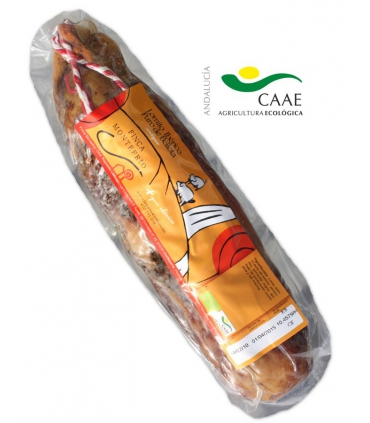 Organic acorn-fed iberian lomito cured meat presa black pig