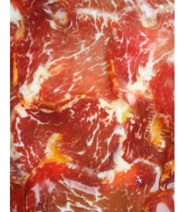 Slices of acorn-fed iberico loin cured meat bellota - Eíriz