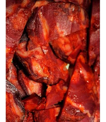 Sliced iberico morcón bellota to taste