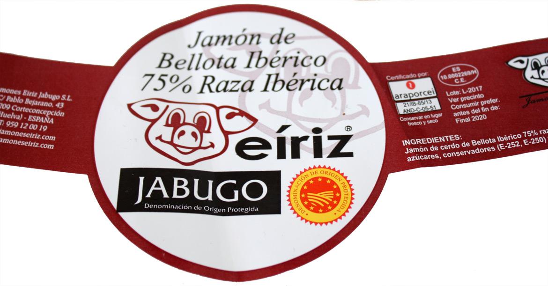 jamón 75 % ibérico DOP Jabugo