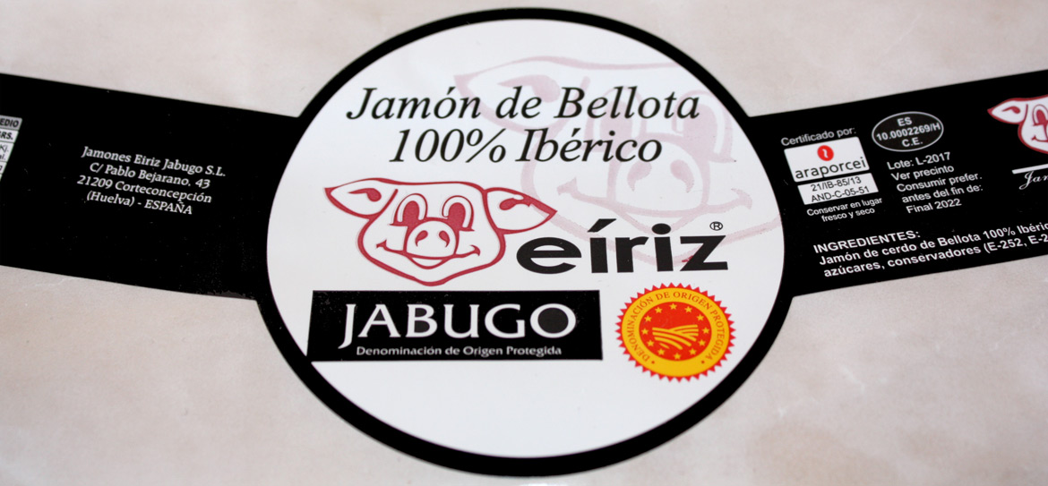 label PDO Jabugo