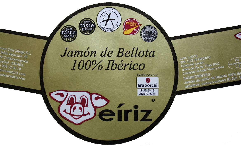 label Eiriz jamones