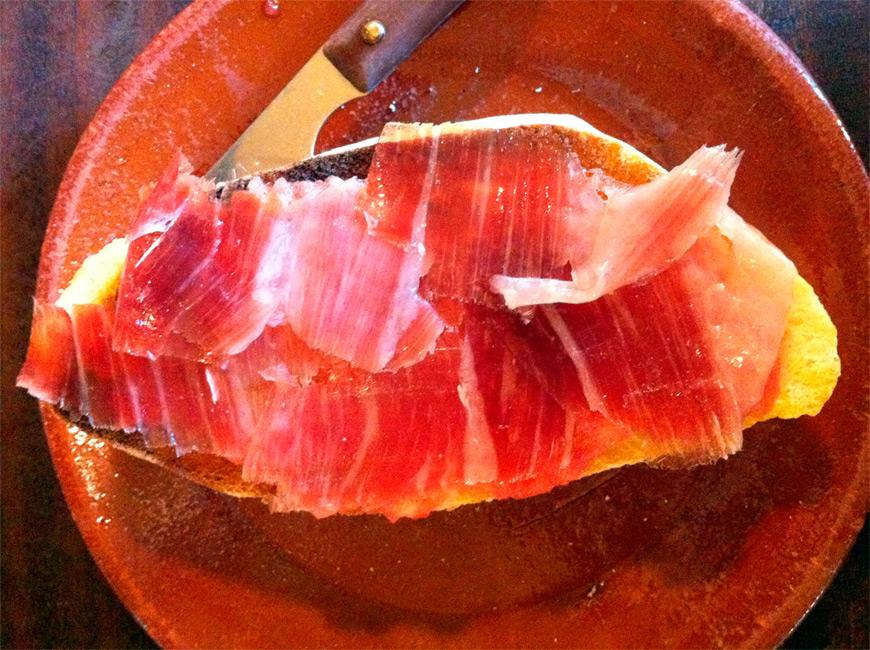 La tostada de jamón Bar Alfalfa