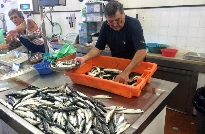 Mercado de pescado de Olhao